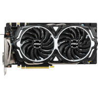 MSI nVidia GeForce GTX 1060 Armor 6GD5X OC